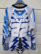Maillot MOTO CROSS porté BAZIN n°22 No Fear shirt gris collection S