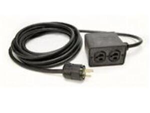 Rubberized 15ft Quad Box Power Cable 4 Outlet Box 12 3 Sjoow Black