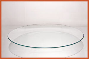 "13"" Round Clear ""BENT"" Glass Plate  1/8"