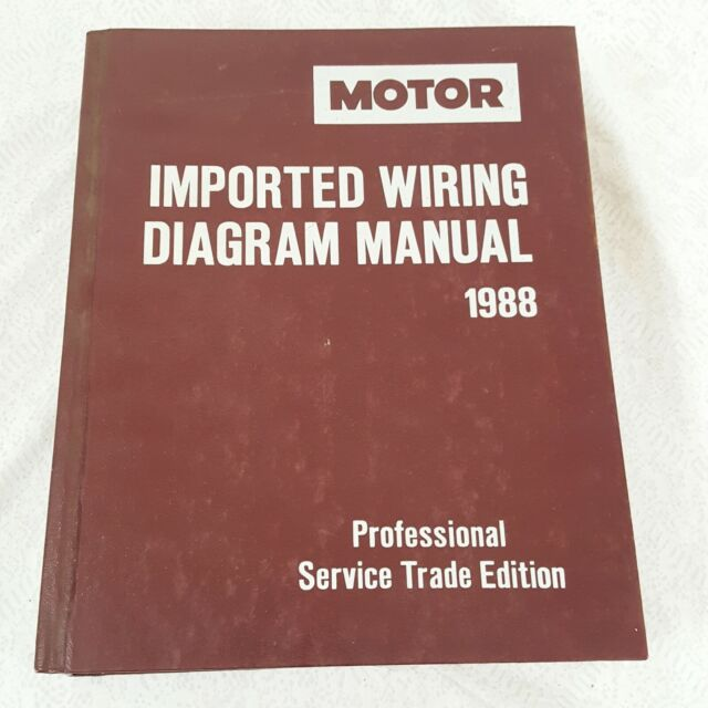 Motor Imported Wiring Diagram Manual 1993professional Service Trade Edition
