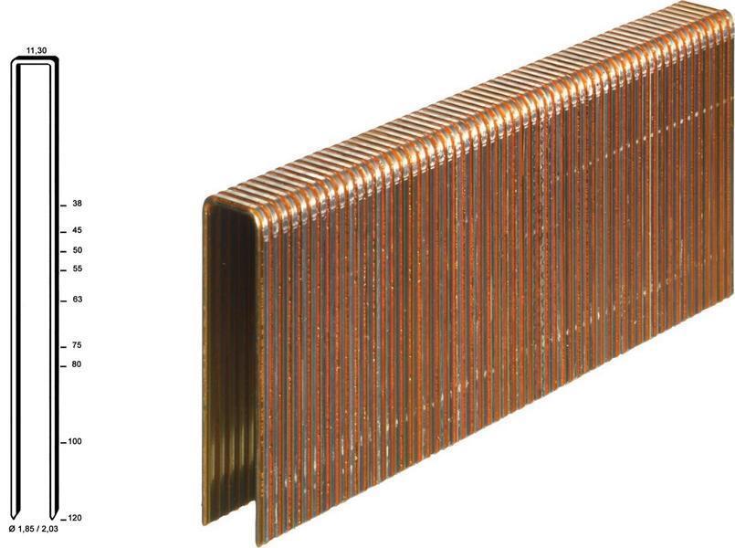 Klammer-Q 63 mm verzinkt 12 mµ, geharzt HD7900 Q6774 CE 5.000 Klammern