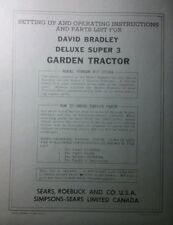 David Bradley Sears 91757584 Garden Tractor Amp Plow Owners Amp Parts 2 Manuals