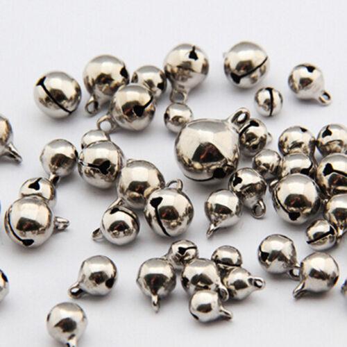 BD/_50X Small Jingle Bell Copper Metal Festivals Jewelrys Pendants Christmas De