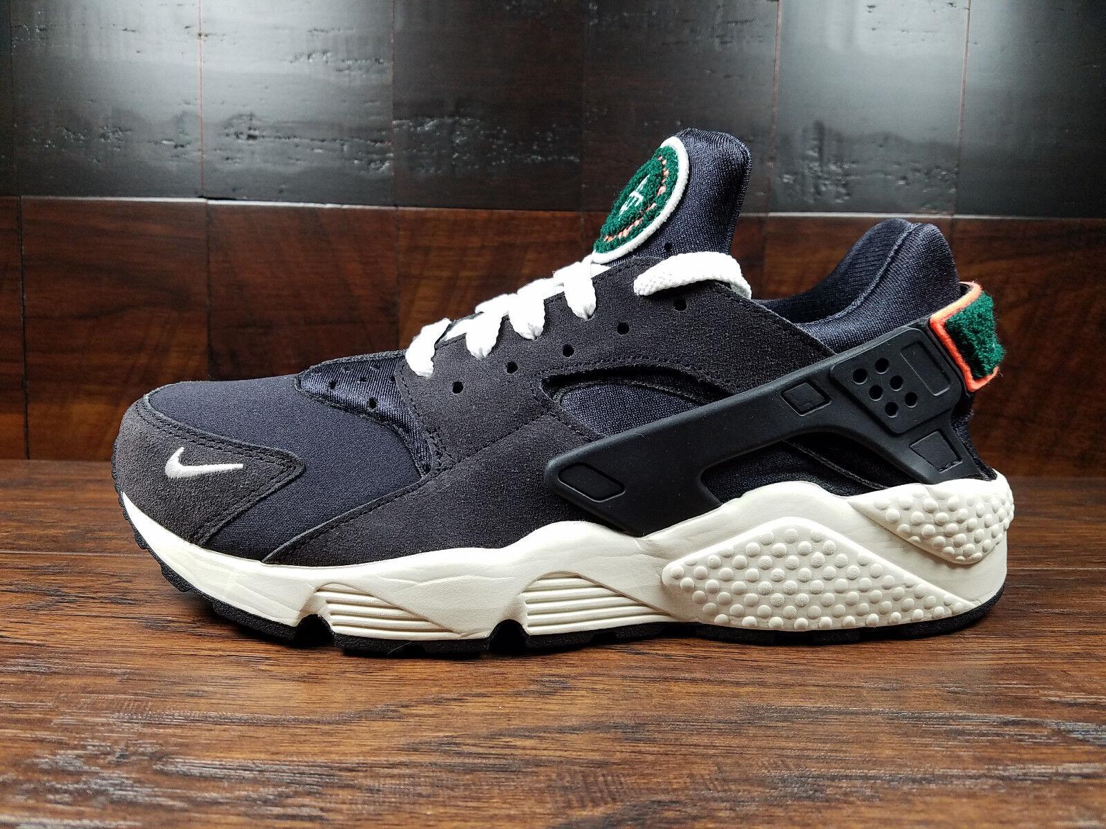 Nike Air Huarache Run Premium (Oil Grey Sail-Rainforest) 704830-015 MENS 8-12