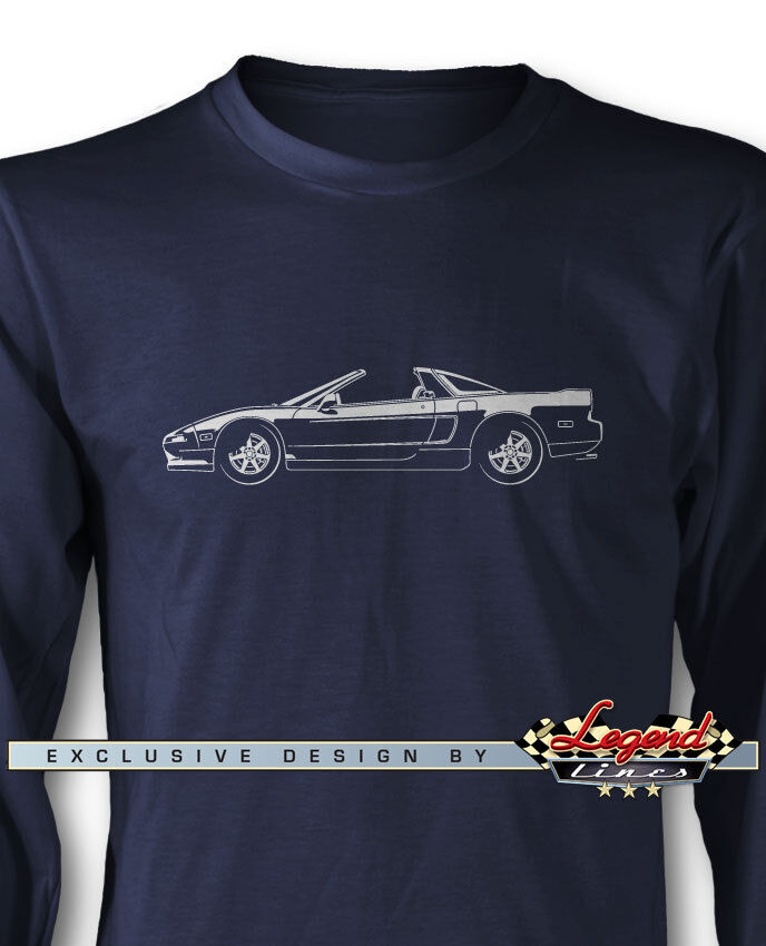 Acura NSX 1990  Top Off  Long Sleeves T-Shirt - Multiple colors & Sizes