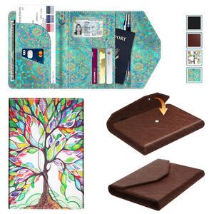 Passport-Holder-Wallet-Trifold-RFID-Blocking-Travel-Organizer-Leather-Case-Cover