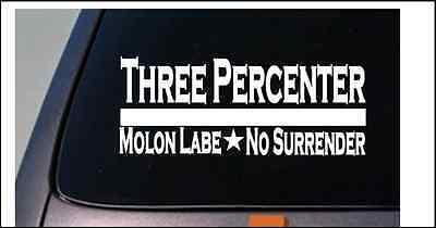 Three Percenter Molon Labe sticker decal *E070* assault life