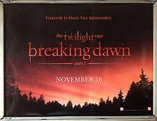 Cinema Poster: TWILIGHT SAGA BREAKING DAWN P1 2011 (Adv. Quad) Robert Pattinson
