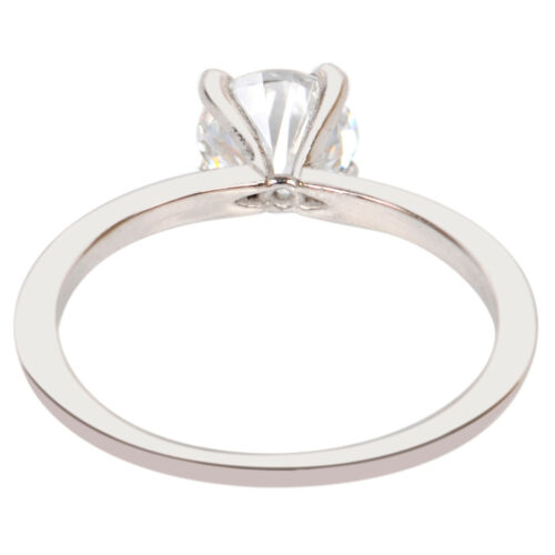 14KT Solid White Gold 1.80 Carat Wonderful Round Shape Solitaire Women/'s Ring