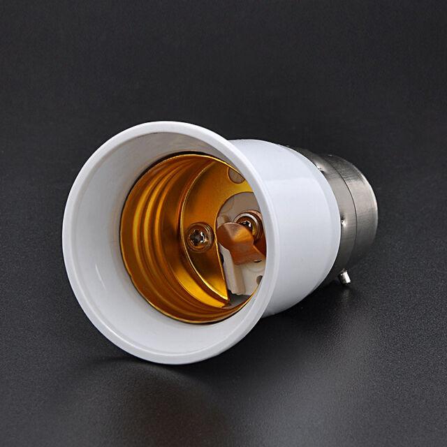 Converter Lamp Adaptor Bayonet BC B22 To Edison Screw ES E27 Light Bulb Holder