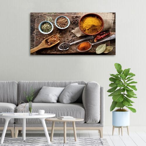 Leinwandbild Kunst-Druck 100x50 Bilder Essen /& Getränke Gewürze Mischung