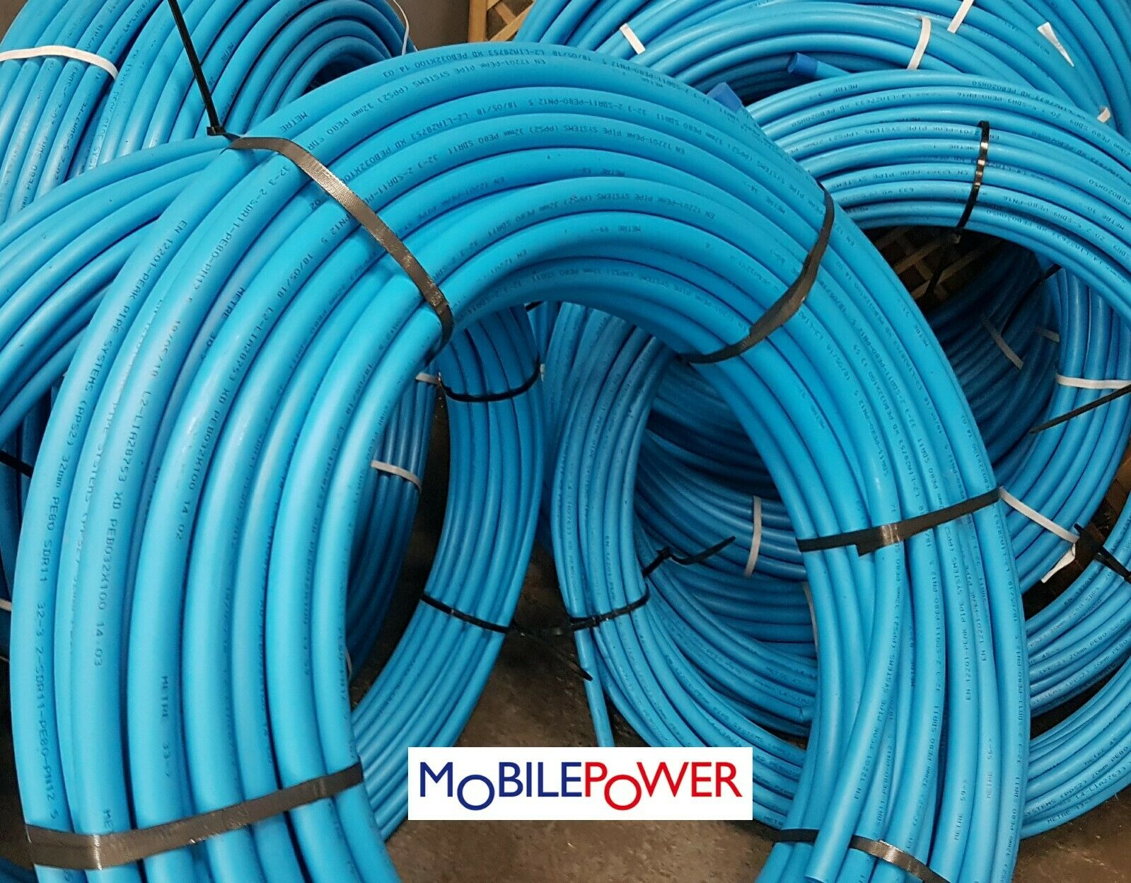 20mm O/D MDPE Plastic Compression WRAS Water Pipe Blue Alkathene By the Metre