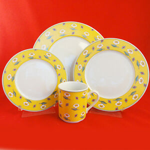 Villeroy & Boch SWITCH 1 AVA YELLOW 4 Piece Place Setting NEW ...