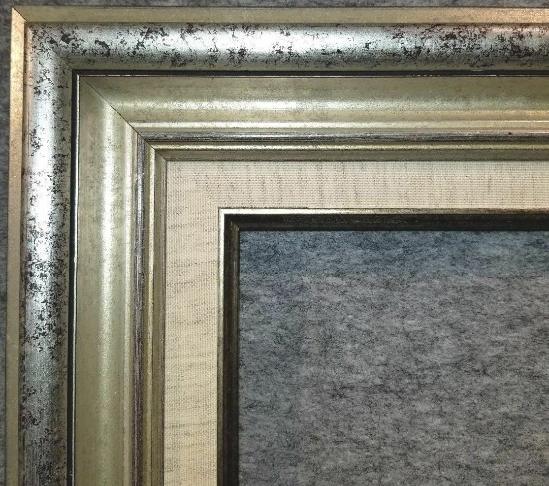 325 antique silver leaf ornate photo oil painting wood picture this listing is for a custom made wood frame that is silver colored we do not make it until you order it jeuxipadfo Gallery