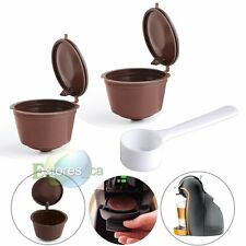 2Pcs Refillable Reusable Compatible Coffee Capsules Pod For Dolce Gusto  Machine