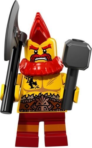 Battle Dwarf NEW LEGO MINIFIGURES SERIES 17 71018