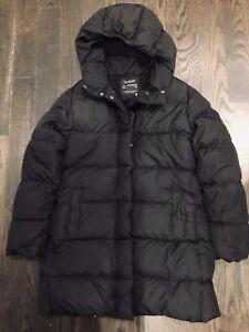 Details about J Crew Crewcuts Girls Down Puffer Coat Size 14 Black Long Jacket (L5)