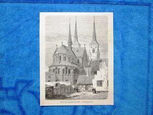 Gravure Année 1862 - Chevet de la cathedrale de Roskilde (Danemark) - Italia - Gravure Année 1862 - Chevet de la cathedrale de Roskilde (Danemark) - Italia