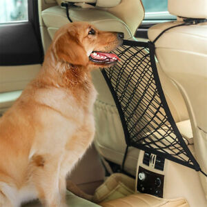 Car-Dog-Pet-Barrier-Seat-Net-Organizer-Universal-Stretchy-Auto-Backseat-Storage