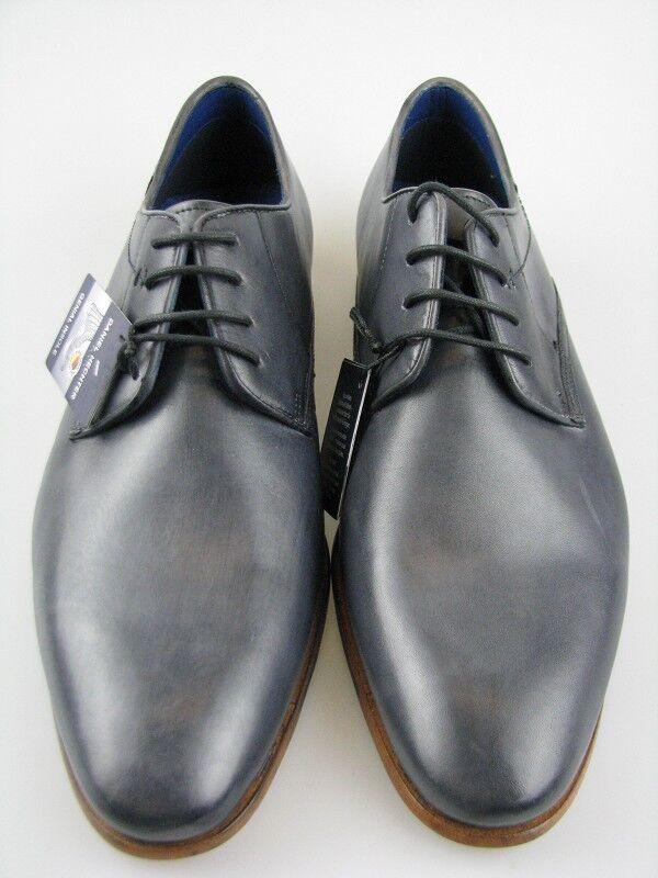 Daniel Hechter 811-24202Business Schuh grau/blau Leder Gr.42