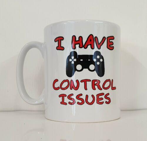 GAMING MUG J/'ai questions de contrôle Funny Novelty video gamer Cadeau PS4