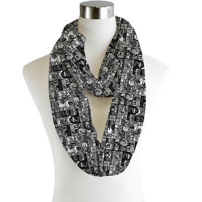 Infinity Scarf Jersey Or Chiffon White Paw Prints Design Fashion Loop Scarves