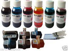 6 Refillable Cartridge for HP 02 3110 3210 3310 D7263 D7268 D7345 D7460  +24oz/S