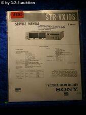 Sony Service Manual STR VX10S FM/AM Receiver (#4695)