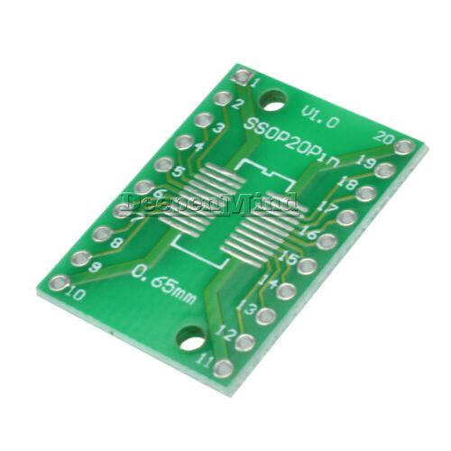 5//10//20//50//100PCS SSOP20 SOP20 TSSOP20 DIP20 PCB Board PCB SMD DIP//Adapter Plate