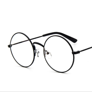 8d71f1796e New! Women Men Large Oversized Metal Frame Clear Lens Round Circle ...