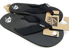 41ab0ef65d74 Reef Mens Sandals Smoothy Black Size 12 for sale online