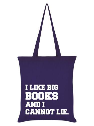 Tragetasche I Like Big Books And I Cannot Lie lila 38 x 42 cm