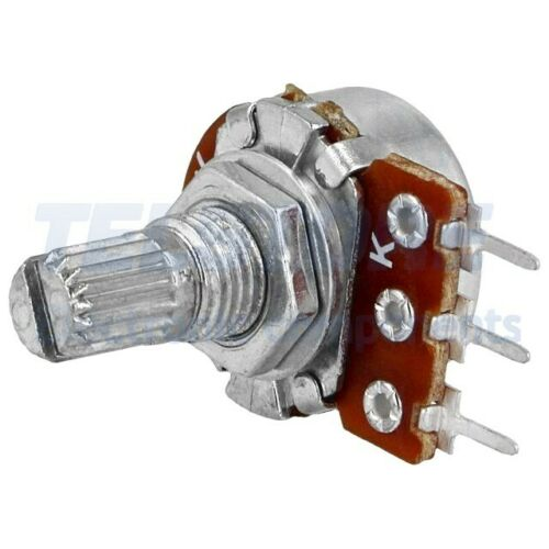 N°2pcs  Potenziometro assiale mono giro 100k ohm 63mW ±20/% THT 6mm
