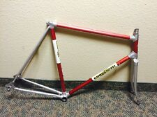 58cm Guerciotti Road Bike Aluminum Lugged Frameset Vintage 1984 Italian Alan