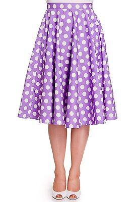 Hell Bunny Mariam Lavender Purple Polka Dot Circle Skirt - Small - Hey Viv Retro