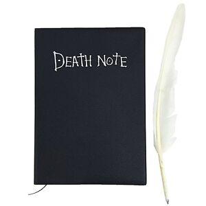 Death-Note-Notizbuch-des-Todes-von-Light-Yagami-Todesmeldung-mit-Federkiel