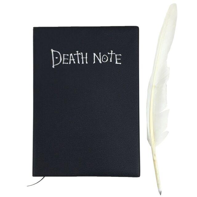 Death Note Notizbuch des Todes von Light Yagami Todesmeldung mit Federkiel DE