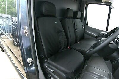 BLACK MERV01BLK // TA3549 BLACK Covers Town /& Country Mercedes Sprinter Single Seat Cover