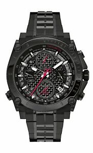Bulova Men's 98B257 Precisionist UHF Chronograph Quartz Black Bracelet Watch