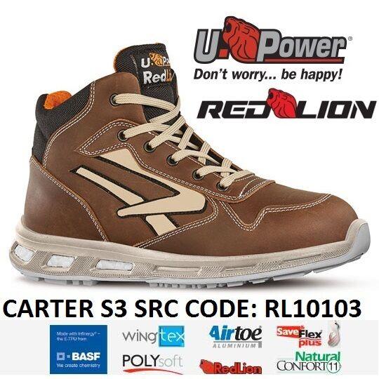 UPOWER zapatos LAVoro ANTINFORTUNISTICA CARTER S3 SRC U-POWER RL10103 -
