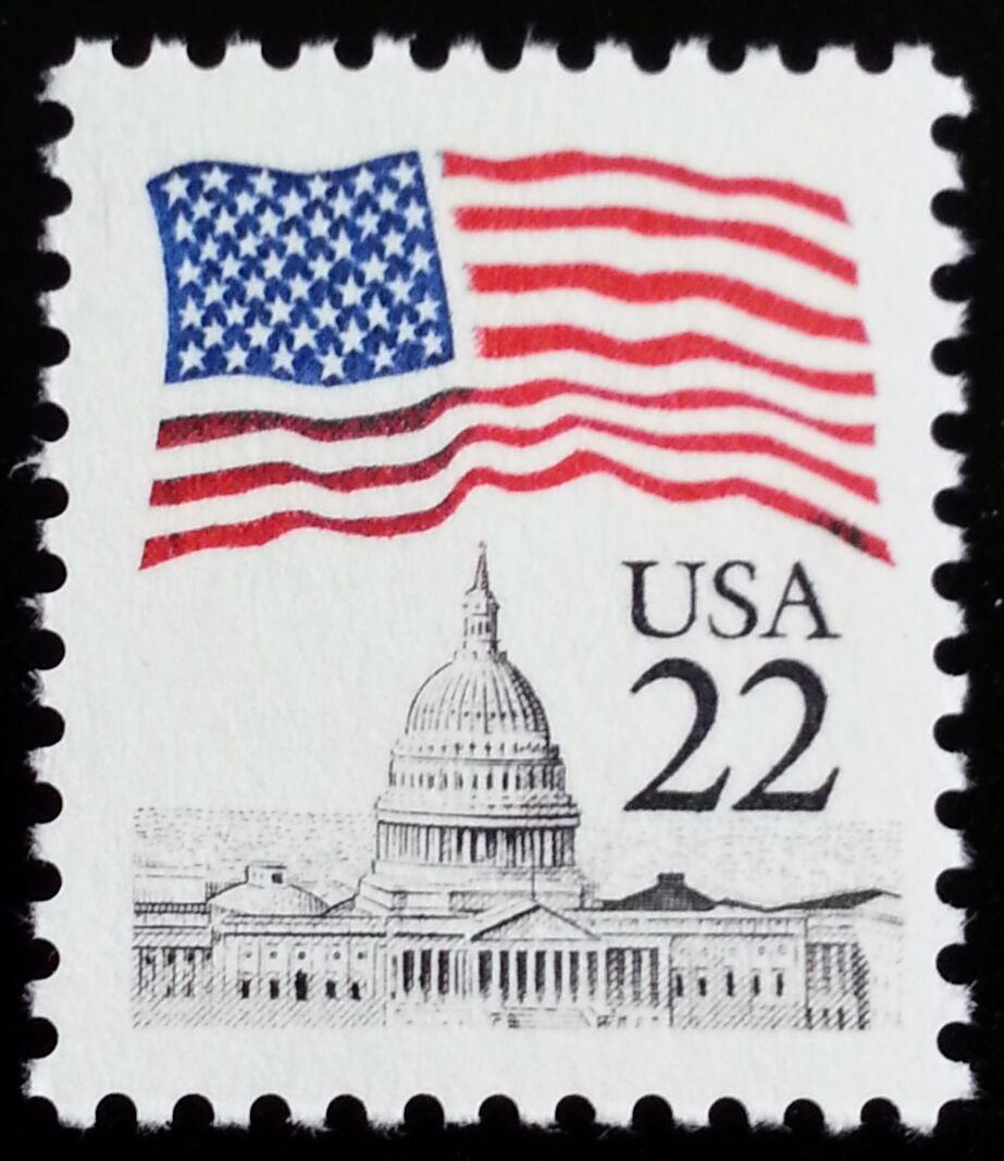 1985 22c Flag over Capitol Dome Scott 2114 Mint F/VF NH