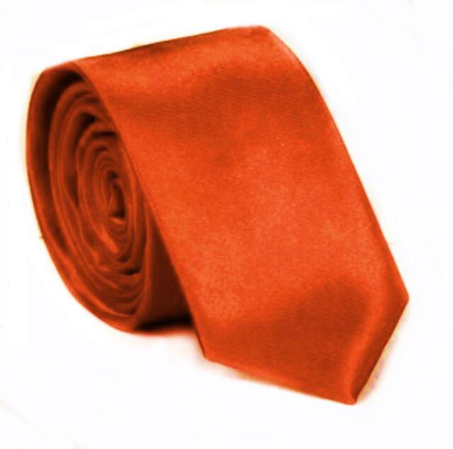 Slim Cravate orange de qualité satin Cravate Classique Cravate orange cravate