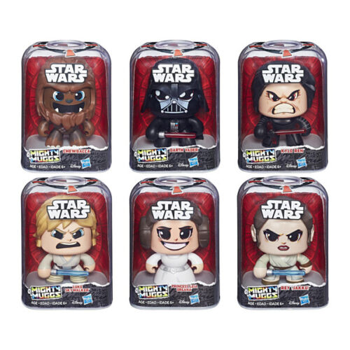 Kylo /& Leia NEUF Vader Chewbacca Star Wars Mighty Muggs Lot de 6-Luke Rey