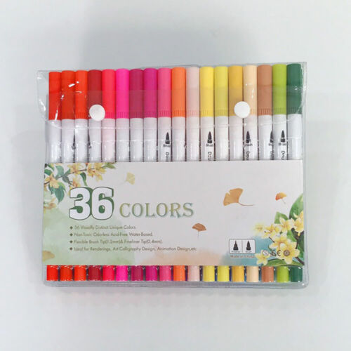 26//48//60//80//100 Farben Dual Spitze Art Marker Pens Set Pinselstift Filzstifte DE