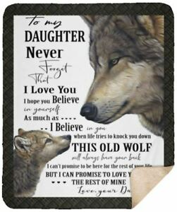 Wolf Aunt To My Niece Never Forget That I Love You Sherpa Blanket