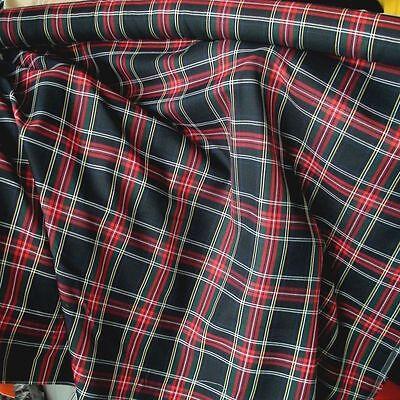schwarz rot grün SCHOTTEN KARO Stoffe Kleiderstoff Dekostoff TARTAN Meterware