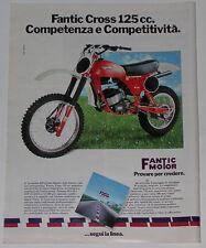 Advert Pubblicità 1980 FANTIC CROSS 125 CC
