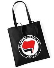 ANTIFASCHISTISCHE AKTION Cotton bag Stoffbeutel schwarz