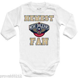 Détails sur Baby Body nouveau fan New Orleans Pélicans, NBA Basket Ball, One Piece Jersey afficher le titre d'origine