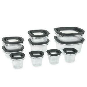 Rubbermaid-Premier-Stain-Resistant-Food-Storage-Containers-20-Piece-Set-Grey-Lid